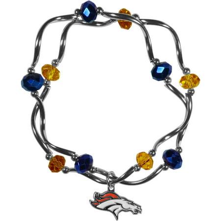 NFL Denver Broncos Stretch Bead Bracelet