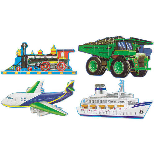 Melissa & Doug Going Places Vehicles Floor Puzzles (4 puzzles, 12 pcs each) by Melissa & Doug