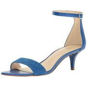 Nine West Women's Leisa Dress Sandal, Blue Leather, 8.5 W US