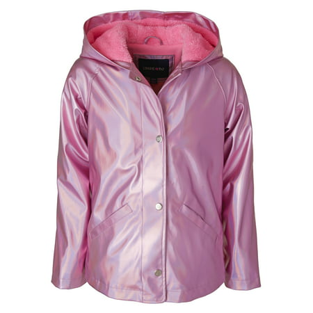 Metallic Raincoat with Fleece Lining (Baby Girls & Toddler Girls)