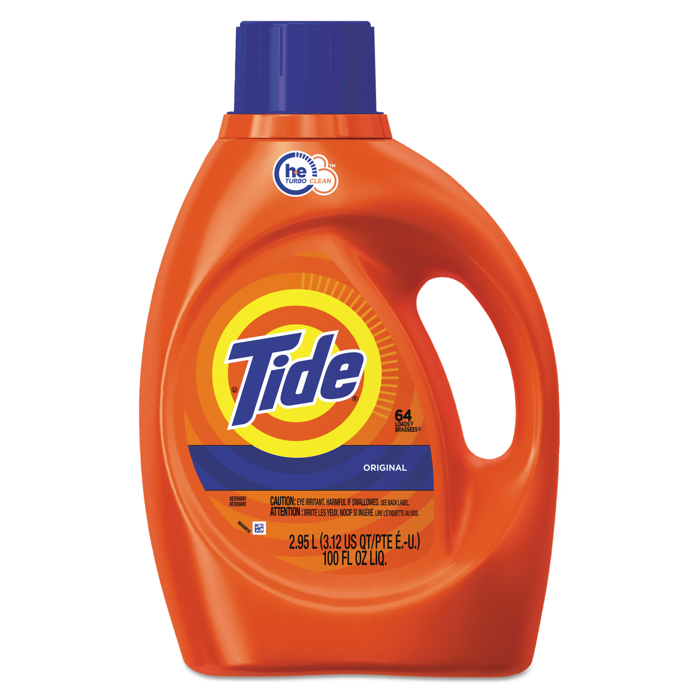Tide Original Scent HE Turbo Clean Liquid Laundry Detergent, 100 oz, 64 loads