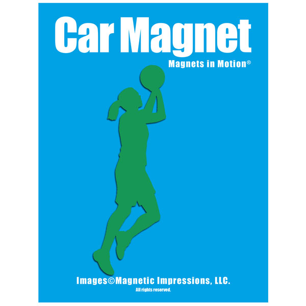 Basketball Player Women's Car Magnet Chrome