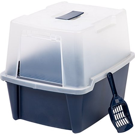 Hooded Litter Box with Scoop and Cleaning Grate 5