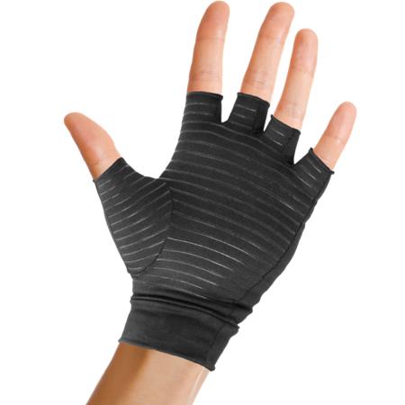 Pivit Copper Arthritis Gloves | Fingerless Compression Glove for Rheumatoid & Osteoarthritis | Cold Hand Hot Glove for Arthritic Joint Pain Symptom Relief | Open Finger for Computer Typing (Medium)