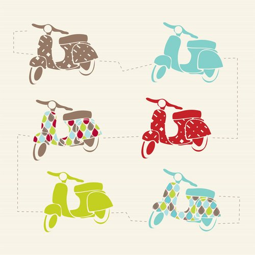 Trendy Peas Vespa Love Wall Art