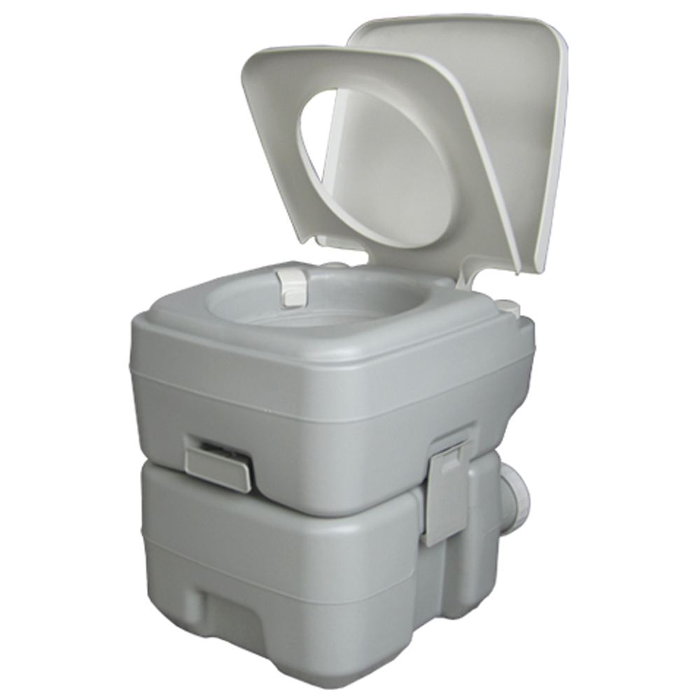 Zimtown Portable Camping Toilet, 5 Gallon Capacity Leak Proof Compact Porta Potty, up to 50 Flushes, Great for Camping, RV, Boating, Hiking and Traveling
