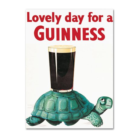 """Trademark Fine Art """"Lovely Day For A Guinness X"""" Canvas Art by Guinness Brewery"""