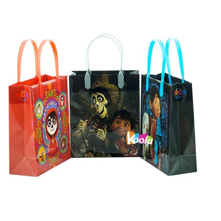 Coco Disney Pixar Birthday Party Supply Favor Gift Bags Goodie Decoration 3Pcs