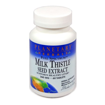 Planetary Herbals Full Spectrum Milk Thistle Seed Extract Tablets, 60 Ct