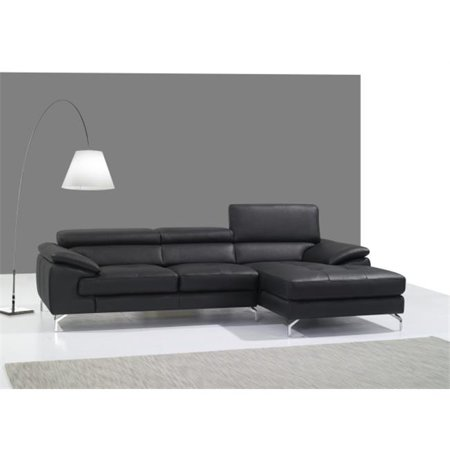 JandM Furniture  Italian Leather Mini Sectional - Right Facing Chaise - - Miami Sectional