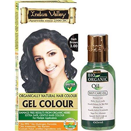 Indus Valley Herbal Dark Brown 3.0 Gel Hair Colour with No Scars Oil