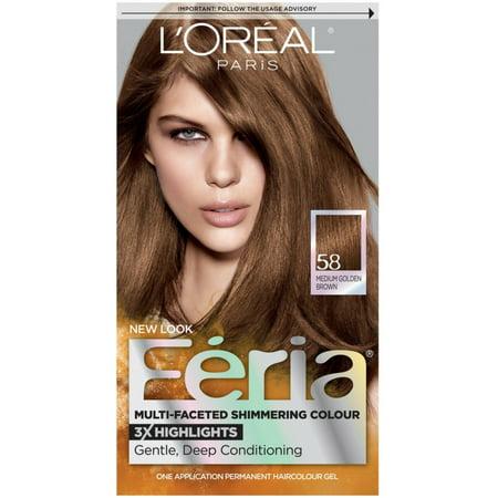58 Raw Umber Color (L'Oreal Paris Feria Permanent Hair Color, 58 Medium Golden Brown 1)