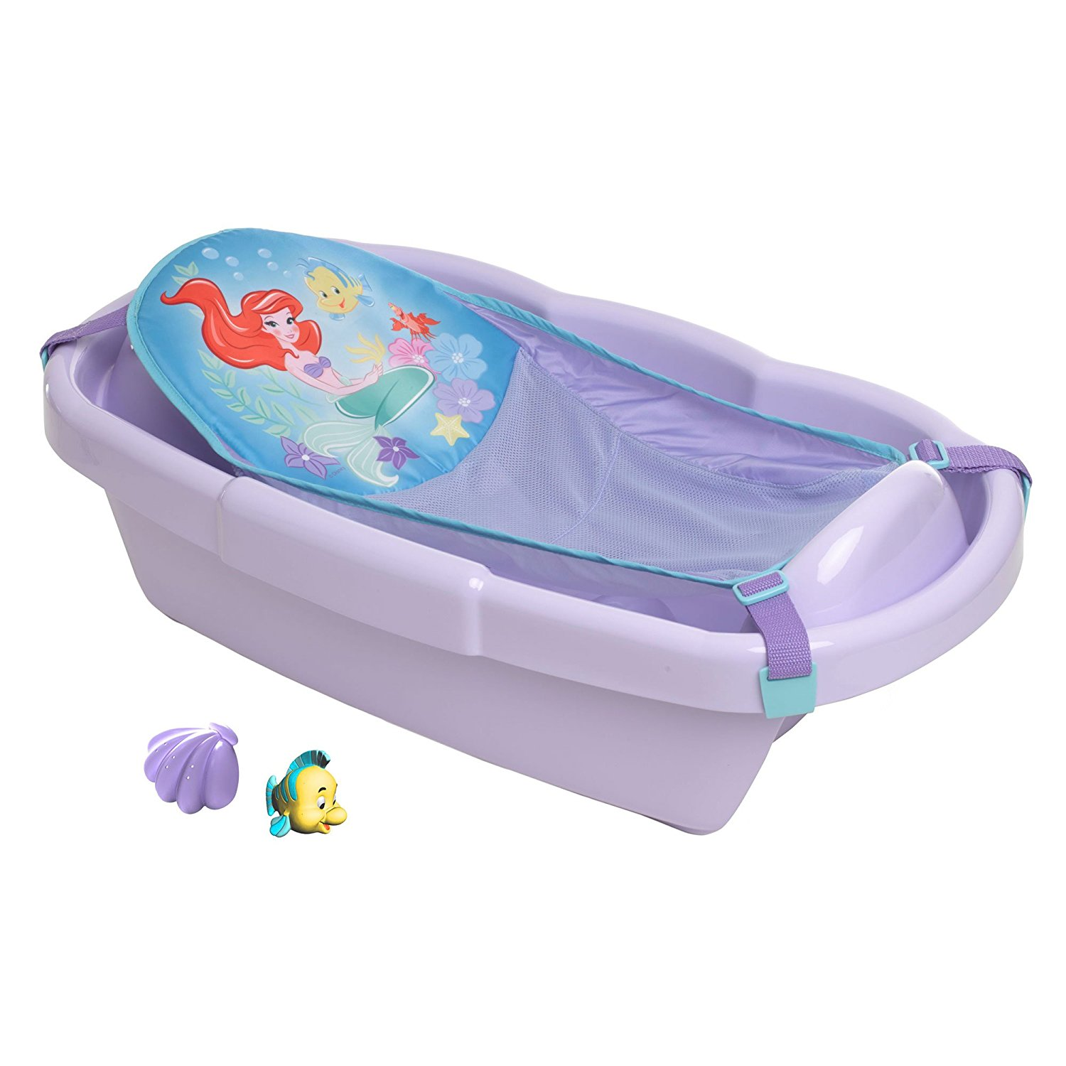 Disney Baby Newborn to Toddler Tub, Ariel, Three- stage tub includes ...