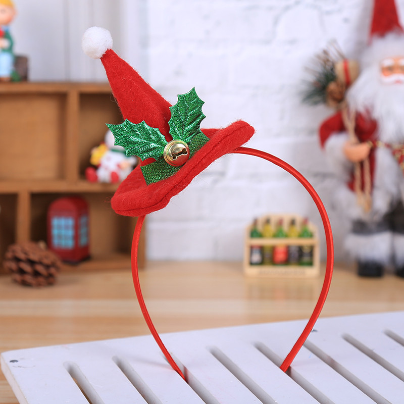 Mosunx Hot Christmas Headband Santa Xmas Party Decor Double Hair Band Clasp Head Hoop