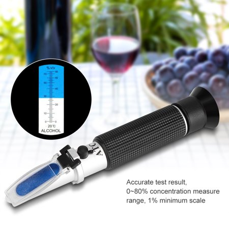 Professional Handheld Alcohol 0-80% Test Refractometer Wine Tester Meter Measure Instrument, Alcohol Tester, Wine Tester
