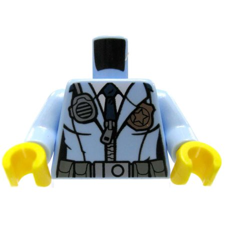 LEGO Minifigure Parts Sand Blue Female Torso Police Uniform Loose Torso - 1920 Police Uniform