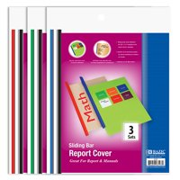 (Price/Case of 144)Bazic Products 3197-144 Clear Front Report Covers W/ Sliding Bar (3/Pack)