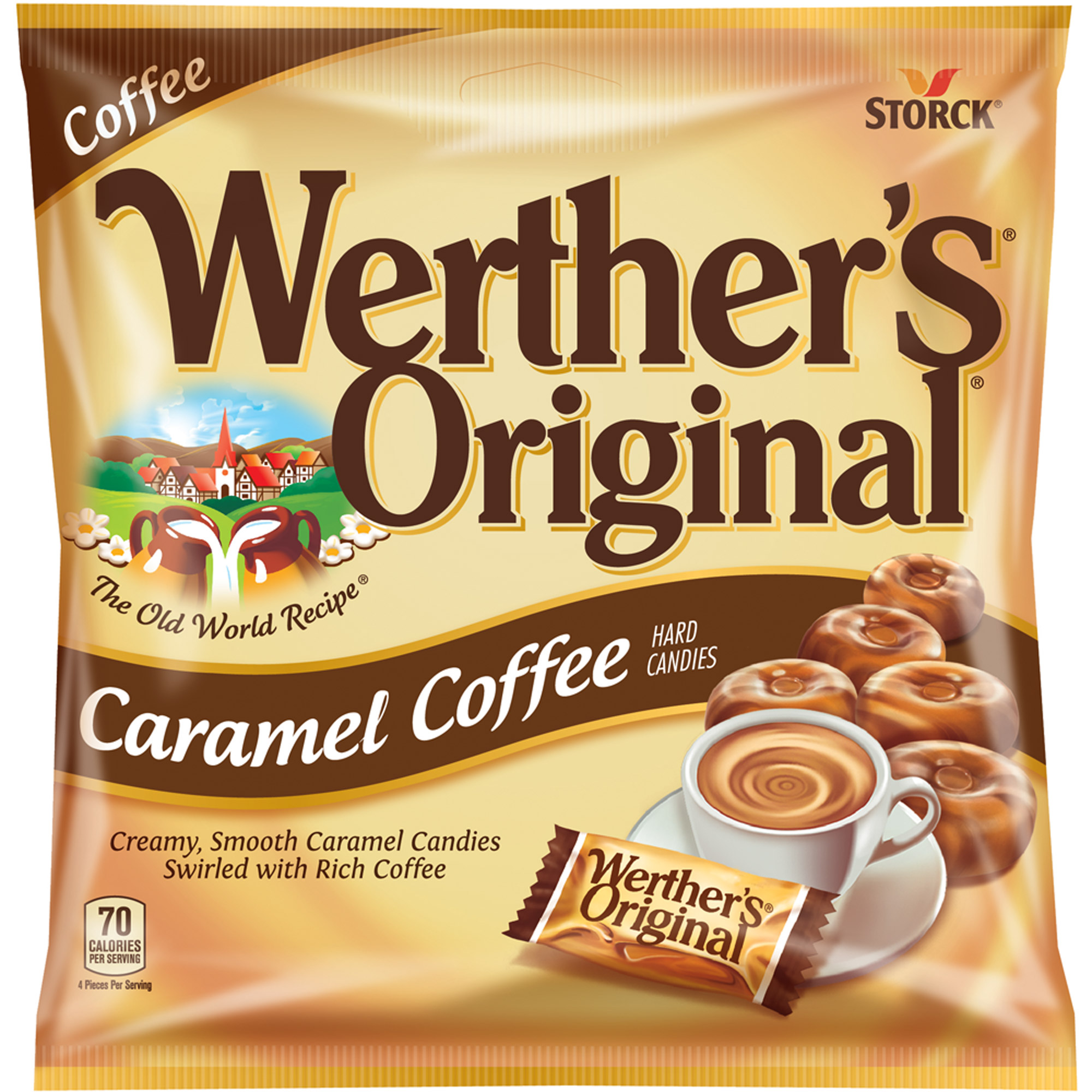 Werther\'s Original, Caramel Coffee Hard Candies, 5.5 Oz - Walmart.com