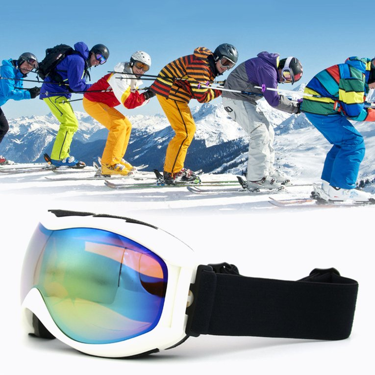 Skiing Goggles TS-013 Double Layer Lens UV400 Anti Fog Unisex Snowboard Ski Glasses Windproof Spherical Surface Goggles by YKS