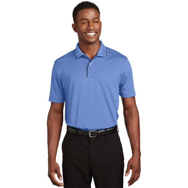 Sport-Tek® Dri-Mesh® Polo With Tipped Collar And Piping.  K467 Blueberry/Navy Xl - image 1 of 1