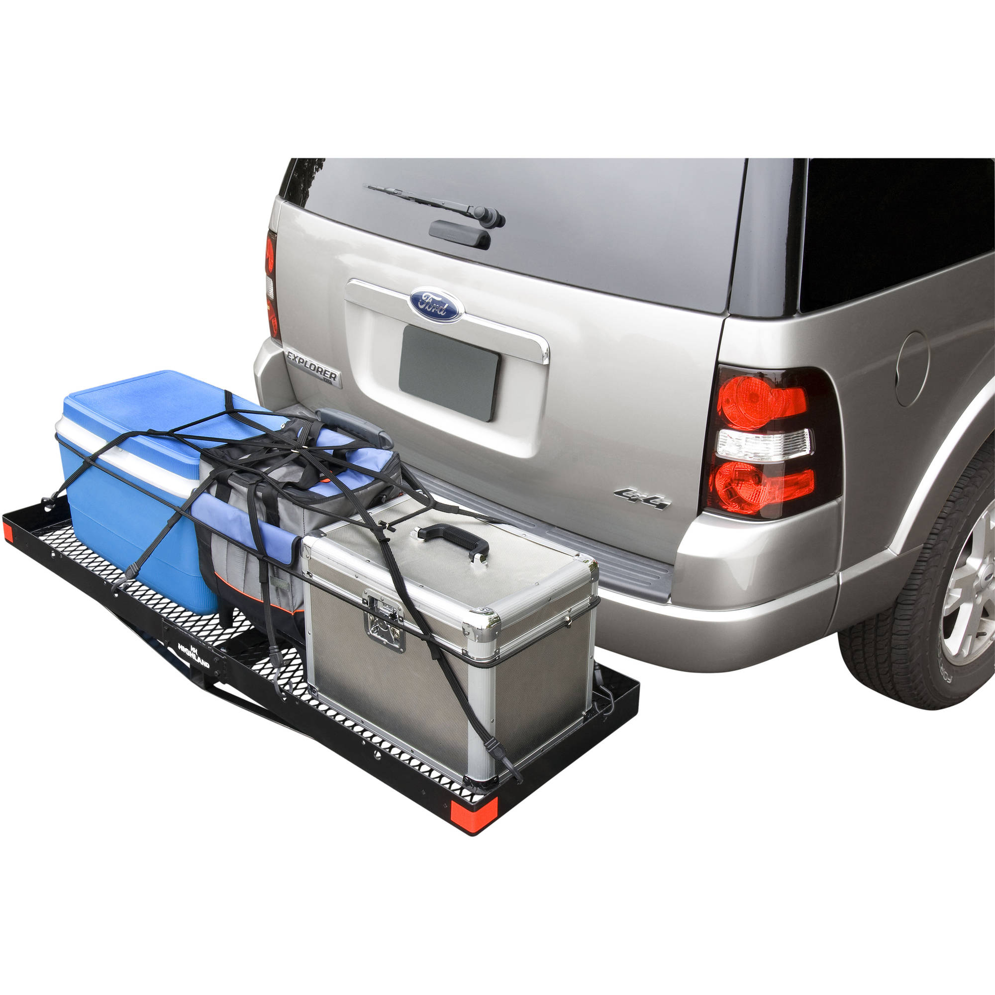 Highland Steel Hitch Mounted Cargo Tray Black Walmart