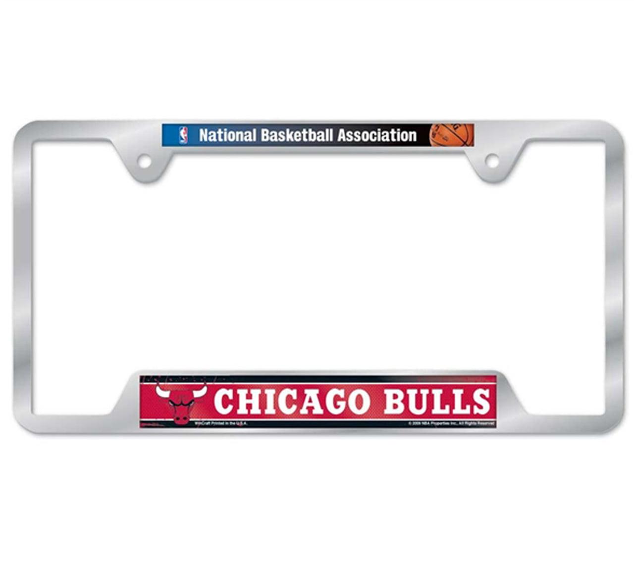 Chicago Bulls Metal License Plate Frame - Team Color