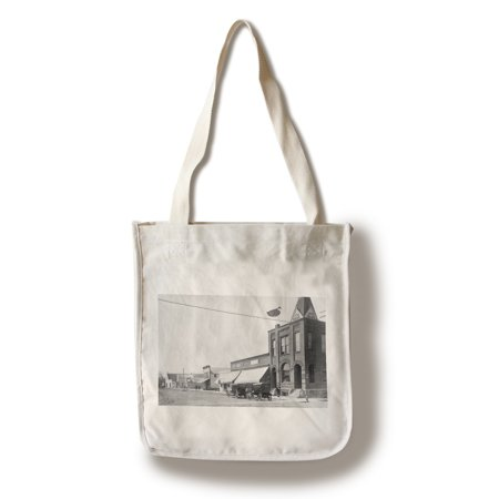 Correctionville  Iowa   View Of Merchants State Bank Bldg  100  Cotton Tote Bag   Reusable