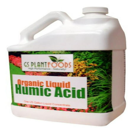 Organic Liquid Humic Acid Fertilizer Soil Health Supplement Humic Fulvic Acid Compost for Garden, Agriculture, Plants - 1 Gallon of Concentrate