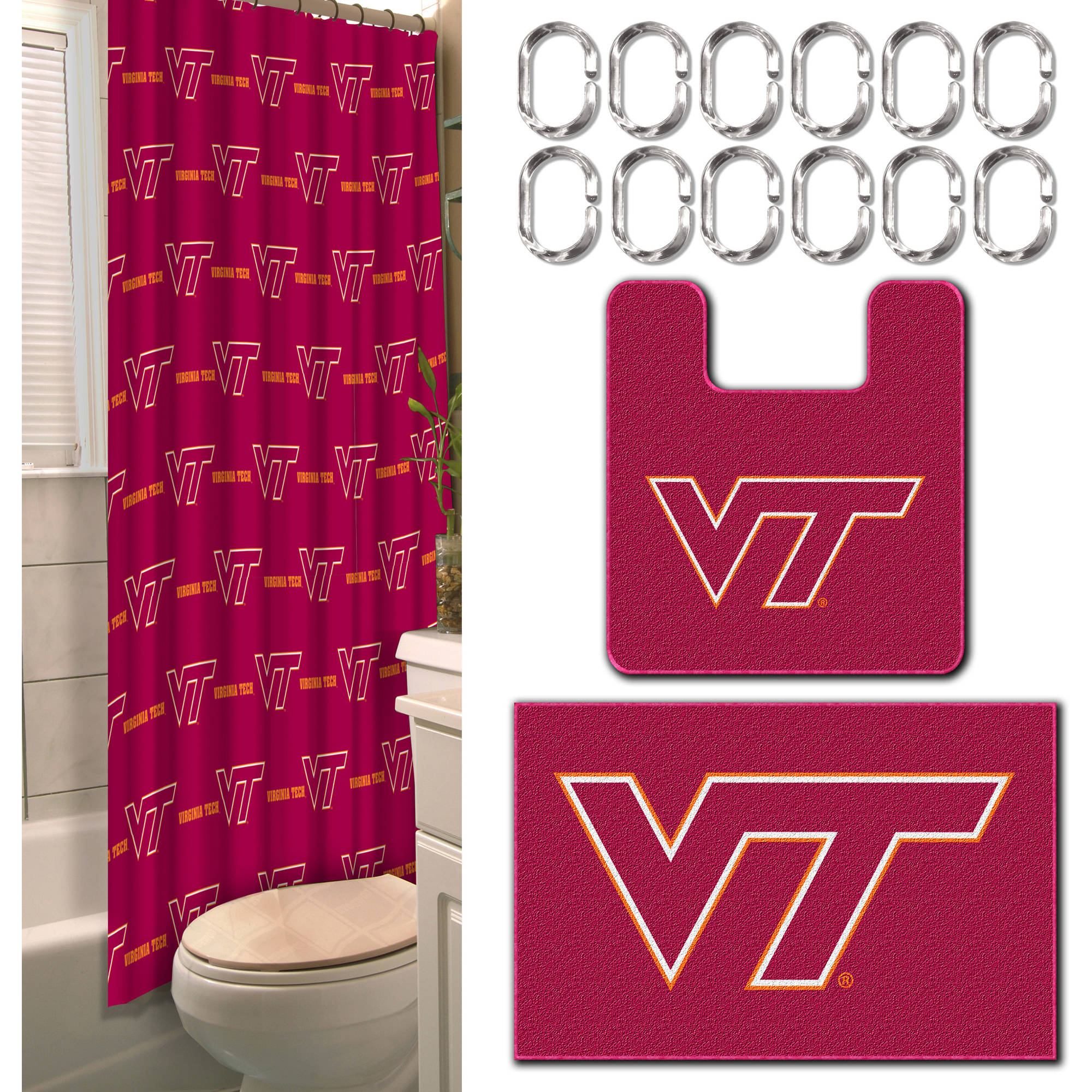 NCAA Virginia Tech Hokies 15-Piece Bath Set