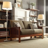 Weston Home Top-Line Mission Oak Loveseat - Multiple Colors/Fabrics