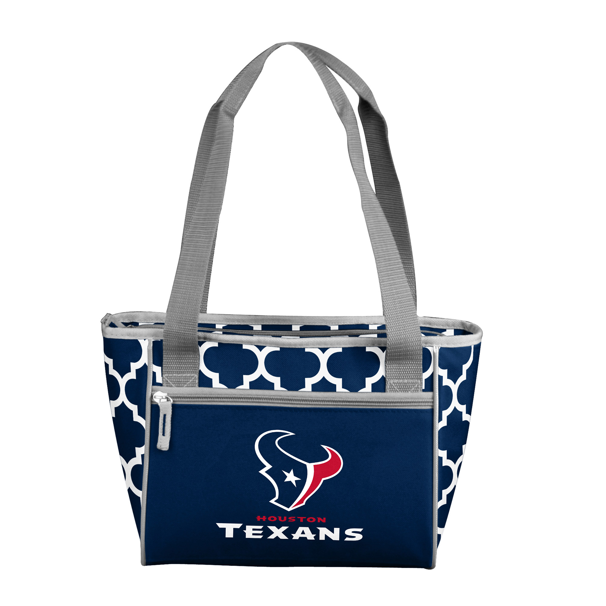 Houston Texans Quatrefoil 16 Can Cooler Tote