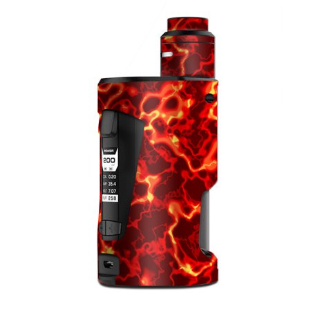 Rage Kit - Skin Decal Vinyl Wrap for Geekvape GBox Squonk Kit 200W Vape Kit skins stickers cover / Lave Hot Molten Fire Rage