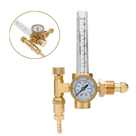 UbesGoo CGA-580 Argon CO2 Flow Meter Regulator Mig Tig Flowmeter Welding Gauge 3500PSI