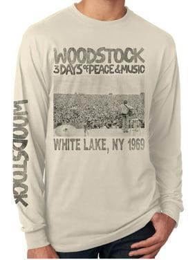 Woodstock Poster Cream Long Sleeve Men's Shirt