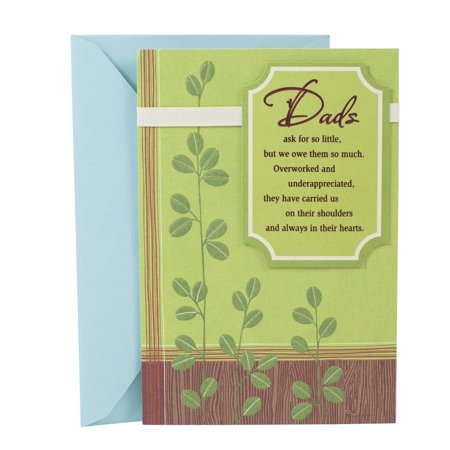 Hallmark Birthday Greeting Card To Father Loved And Appreciated