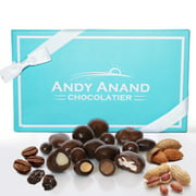 Andy Anand's Sugar Free Milk & Dark Chocolate Bridge Mix of Almonds, Coffee, Raisins, Peanuts 1 lb, Amazing Taste Gift Boxed & Greeting Card Birthday Valentine Day Christmas Holiday Gifts Mothers day