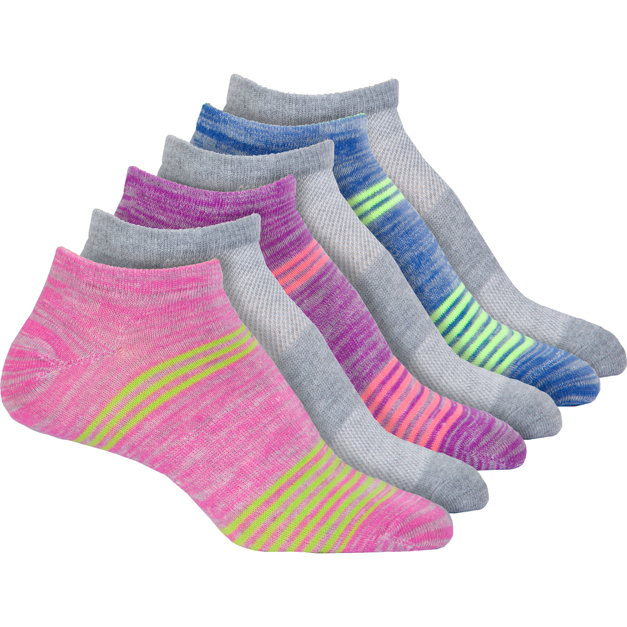 Ultralite NoShow Socks, Pack of 6