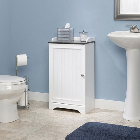 Sauder Caraway Floor Cabinet Soft White Walmart Com