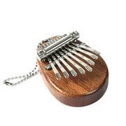 8 Key Kalimba Mini Portable Thumb Piano Finger Percussion Keyboard Pocket Musical Instrument Christmas Present Pendant