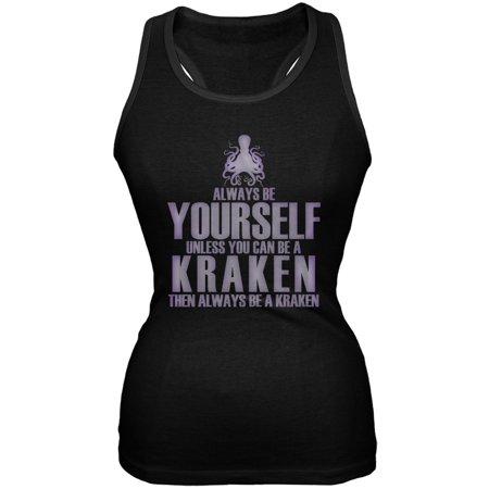 Always Be Yourself Kraken Black Juniors Soft Tank Top (Kraken Replacement Tank)
