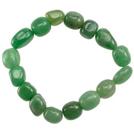 Womens Jewelry Bracelet Green Aventurine Natural Stone Shape Beads Create Balance Within Yourself