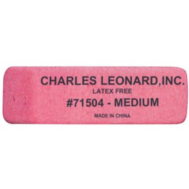 Charles Leonard 2317635 Pencil Eraser Wedge Shape, Latex Free - Medium, 24 per Box - Case of 18