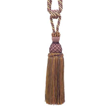 - Elegant Dusty Rose, Dark Blue, and Light Olive Curtain & Drapery Tassel Tieback / 10