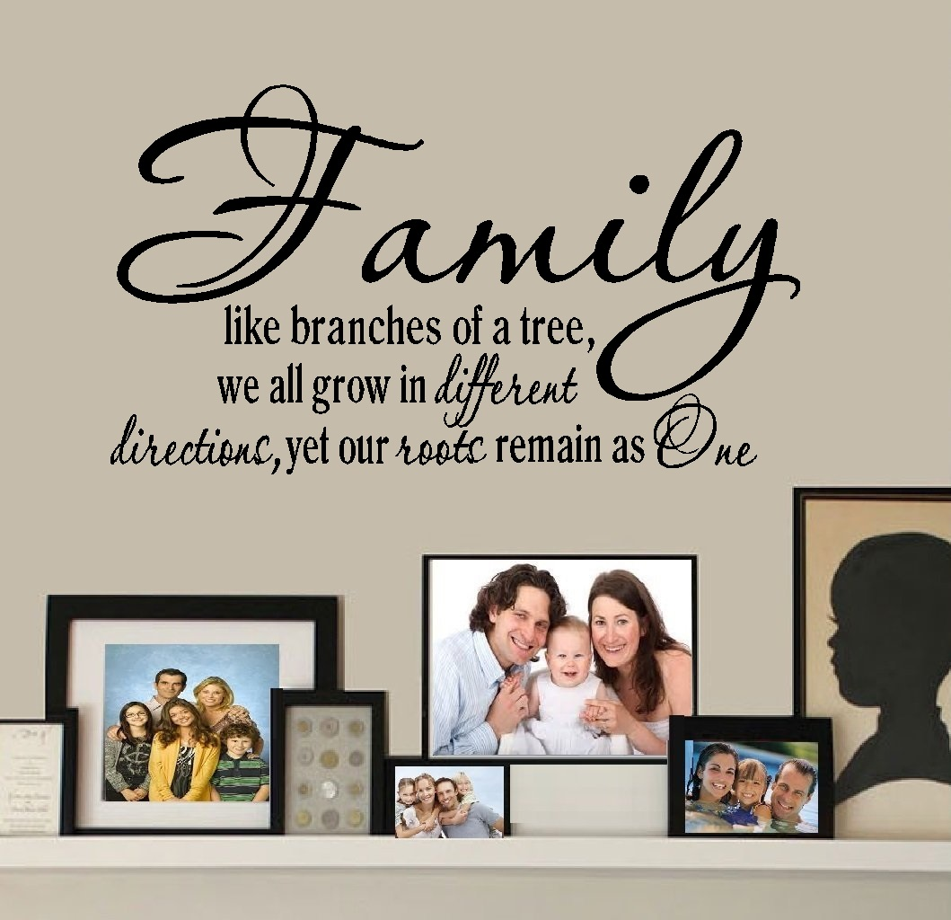 "Decal ~ FAMILY ~ LIKE BRANCHES OF A TREE #1 ~ WALL DECAL 13"" x 23"""