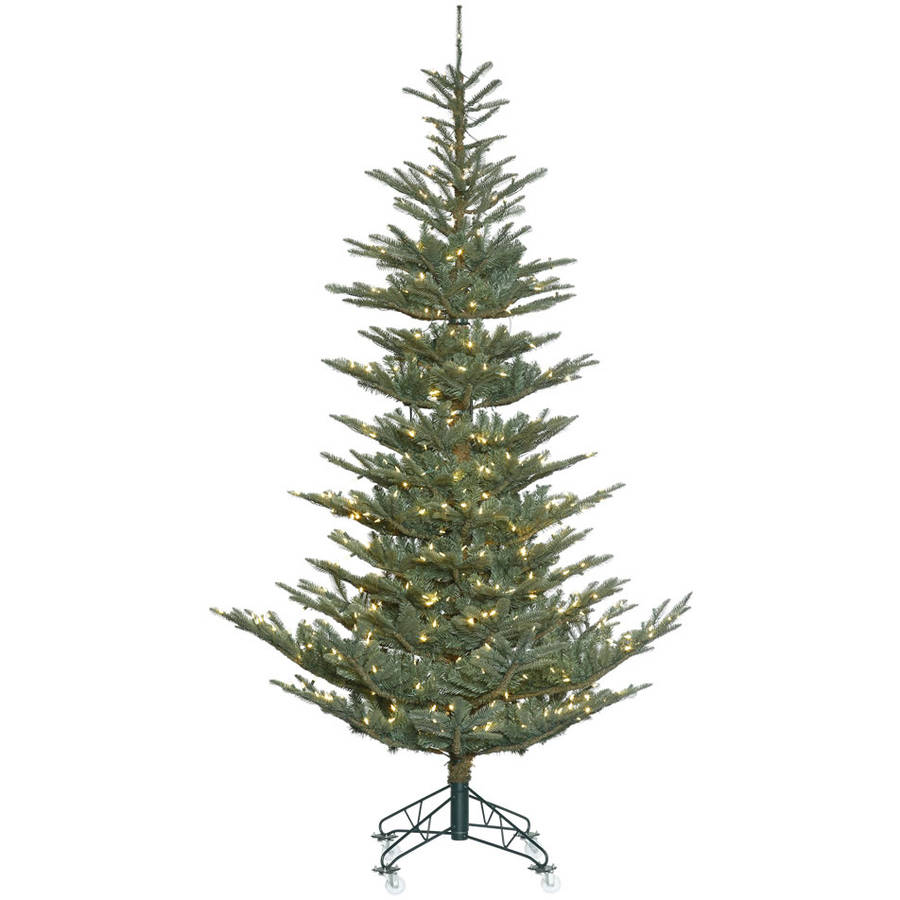 Vickerman 9' Alberta Blue Spruce Artificial Christmas Tree with 650 Warm White LED Lights