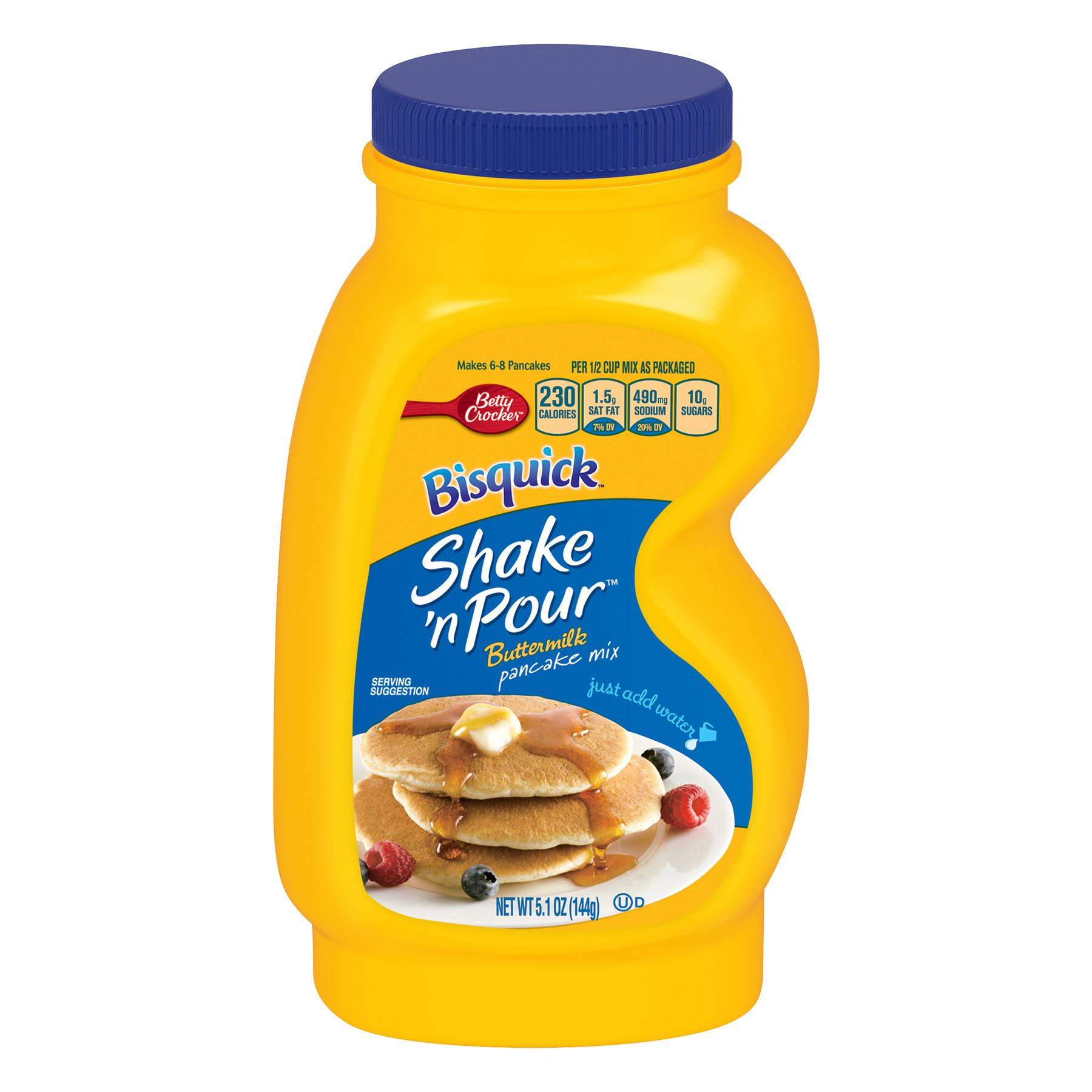 Bisquick Baking Mix Shake 'N Pour Pancake Mix Buttermilk 5.1 Oz Bottle