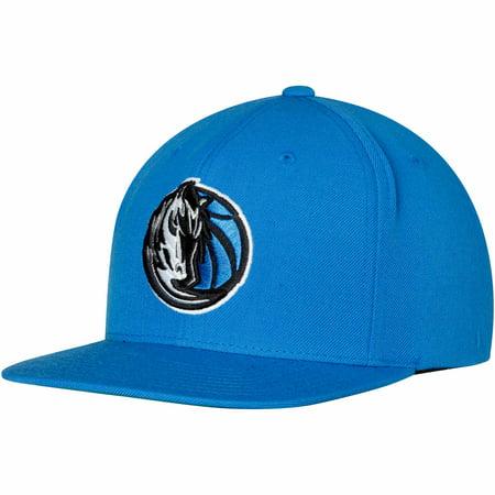 Dallas Mavericks Mitchell & Ness Team Logo Wool Solid Adjustable Snapback Hat - Blue - OSFA