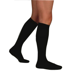 Soft,Knee High,20-30,Full Foot,Regular,Sz 5,Black