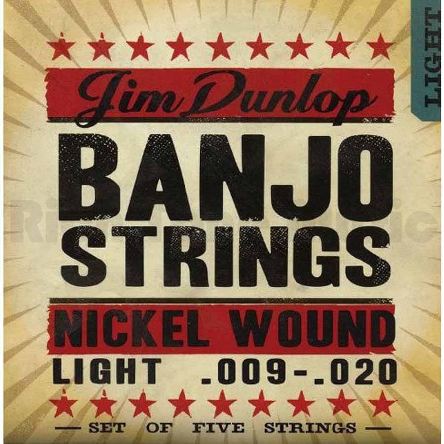 Dunlop DJN0920 Banjo Strings Nickel Light 5 Set by Dunlop