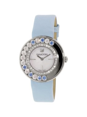 Swarovski Women's Lovely Crystals 1187024 Blue Leather Swiss Quartz Watch